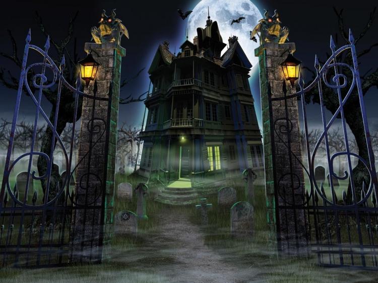 Природа и архитектура - Страница 2 Hauntedhouse